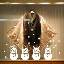 quote decals for glass snowman frozen snowflake showcase decoration christmas window