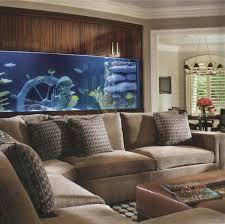 Home Aquarium Decorations Decorations Brilliant Under Brown Wall Aquarium With Cabinet