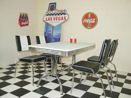 diner style booth table american 50s diner furniture retro booth table with 4 black chairs