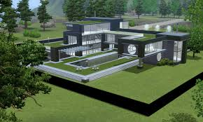 sims 3 modern black futuristic villa by ramborocky on deviantart