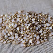 aliexpress com buy gold alloy nail art pearls glitter studs
