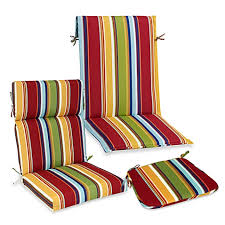 Bed Bath And Beyond Outdoor Furniture by Outdoor Seat Cushion Collection In Bright Stripe Bed Bath U0026 Beyond