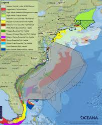 Map Of Mid Atlantic States new oceana maps show at risk atlantic marine life threatened by