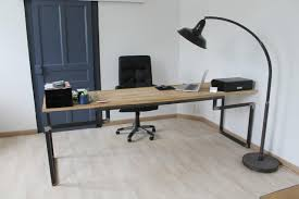 bureau industriel bois et metal bureau metal bois bureau laqué blanc lepolyglotte