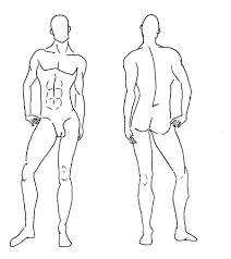 fashion templates front and back male