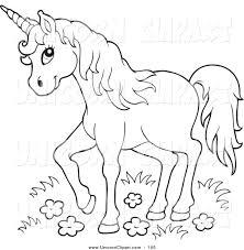 unicorn clipart black clipartxtras