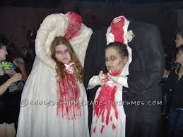 halloween costumes for girls scary thrift store headless bride and groom couple costume homemade