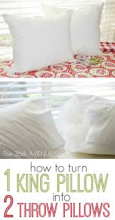 how to place throw pillows on a bed craft tip bed pillow into two throw pillows u create