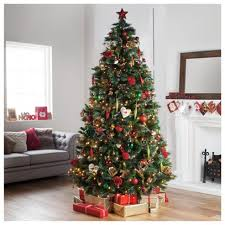 imposing design 7 ft tree pre lit green willow pine