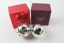 wallace silversmiths annual silver bells 2 pieces