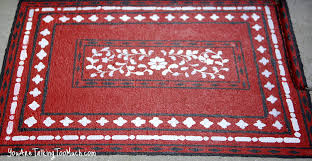 Pink Outdoor Rug Red Painted Outdoor Oriental Rugs On Concrete