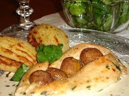 cuisiner filet de poulet filet de poulet farci aux chignons et crème à l estragon
