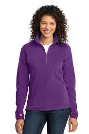 port authority women u0027s microfleece 1 2 zip pullover at amazon