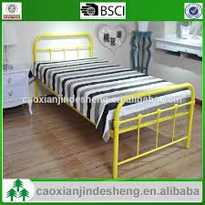 Single Bed Frame For Sale New Yellow Color Bed Metal Single Bed Frame Buy Yellow