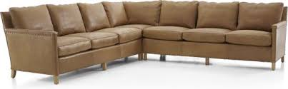 Crate And Barrel Sectional Sofa Trevor Leather Collection Crate And Barrel