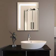Tv In Mirror Bathroom by Home Decor Bathroom Mirror With Led Lights Tv Feature Wall