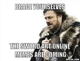 Online Memes - sword art online memes home facebook
