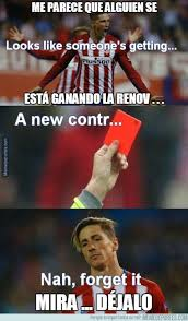 Fernando Torres Meme - chions league zero to hero barcelona atletico in memes