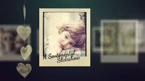 adagio sentimental video slideshow after effects template