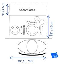 Formal Setting Of A Table Dining Table Size