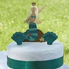 Mermaid Themed Cake Decorations Handcrafted Cake Topper Set
