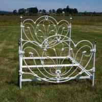 furniture white painted vintage metal bed frames with elegant