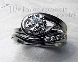 engagement rings and wedding band sets interlocking engagement ring wedding band set metamorphosis jewelry