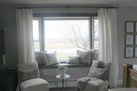 interior astounding ideas for living room decoration using cream classy home interior design and decoration with bay window seat ideas astonishing window treatment decoration