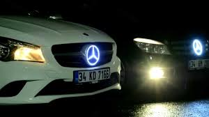 mercedes logo mercedes lighted logo emblem youtube