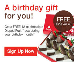 edible birthday gifts free birthday gift from edible arrangements at totally free