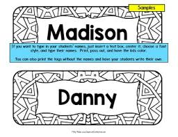 student name tags for desks desk name tags name plates by elementary lesson plans tpt