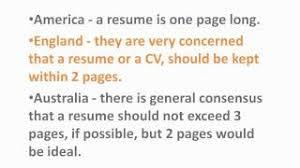 How Long Should A Resume Be Australia Australian Resume How Many Pages How Many Pages Should My Resume