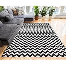 3 X 4 Area Rug Amazon Com Chevron Rug 3x5 Black Contemporary Striped Stain