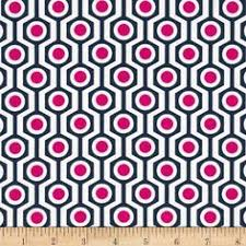 Pink And Navy Curtains Fabric Design Navy Quatrefoils W Pink Dots For Curtains Shades