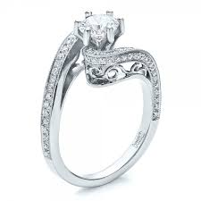 filigree engagement rings custom diamond and filigree engagement ring 100129