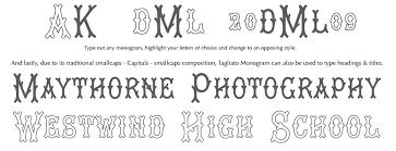 monogrammed fonts monogram fonts co