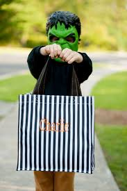 striped halloween trick or treat tote 3 4 week production time