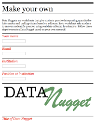making your own data nugget data nuggets