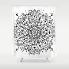 moroccan shower curtains society6