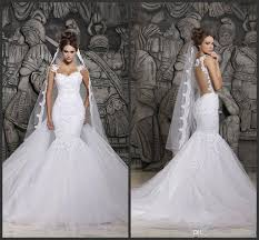 cheap online wedding dresses 2017 berta lace wedding dresses illusion back with detachable