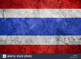 Thai Flag Flag Of Thailand Or Thai Banner On Rough Metal Background Stock