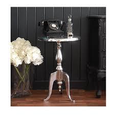 bureau chrome the black bureau chrome side table