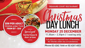 day lunch 25th december 2017 wollongong look what s on