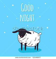 good night greeting card design vector stock vector 544403572