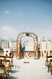 wedding arches los angeles los angeles rooftop wedding ruffled
