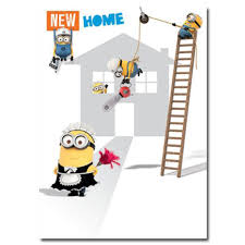 new home new home congratulations minions card minion shop