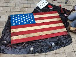 How To Hang The American Flag Vertically American Flag Pallet 4 Steps With Pictures