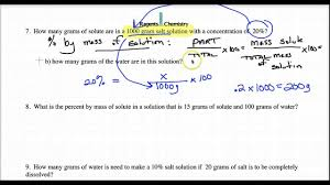 molarity percent by mass ppm simple calculations youtube
