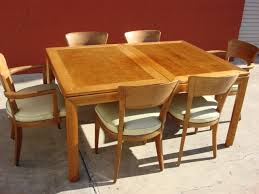 American Vintage Dining Room Set Solid Maple Original Post Modern - Maple dining room tables