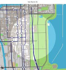 Chicago Street Map by Map Of Building Projects Properties And Businesses Near The Van